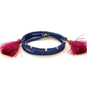 Gorjana GG Tassel Wrap Gold Bead Braided Bracelet